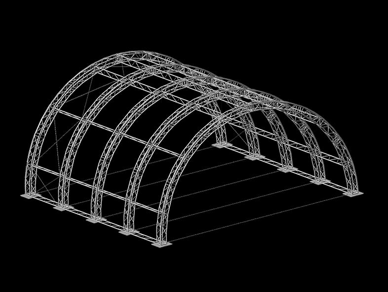 TAF Truss Aluminium | ROOF 12x12x6 ARCH | Roofs