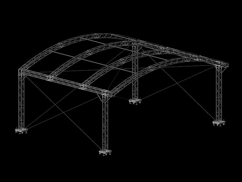 TAF Truss Aluminium   ROOF 10x8x4   Roofs